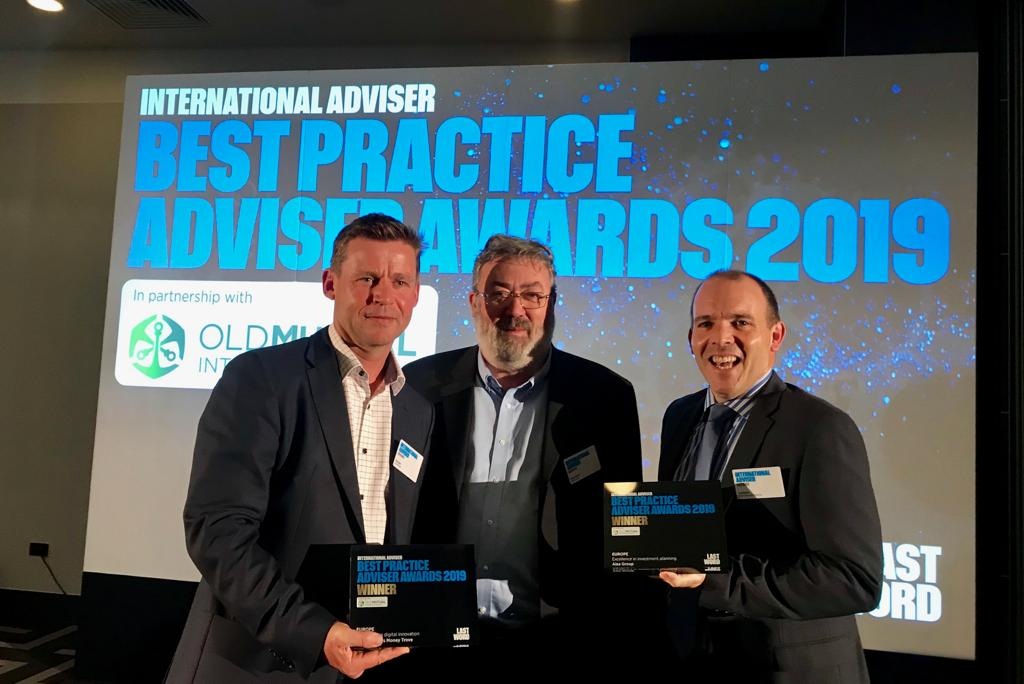 , OpesFidelio / AISA team – winner of the International Advisor's Best Practice Awards
